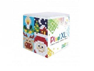 Pixelhobby, Pixel XL készlet, karácsony (24117, 4db 6x6 cm-es képhez, 4-6 év)