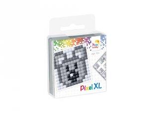 Pixelhobby, Pixel XL készlet, koala (27013, 1db 6x6 cm-es alaplap, 4 szín, 4-6 év)