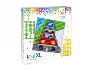 Pixelhobby, Pixel XL készlet, kocsik (41020, 12x12 cm-es alaplap, XL színek, 4-6 év)