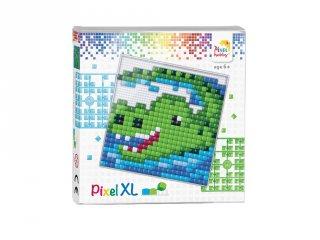 Pixelhobby, Pixel XL készlet, Krokodil (41008, 12x12 cm-es alaplap, XL színek, 4-6 év)