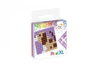 Pixelhobby, Pixel XL készlet, kutya (27014, 1db 6x6 cm-es alaplap, 4 szín, 4-6 év)