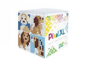 Pixelhobby, Pixel XL készlet, kutyus (24121, 4db 6x6 cm-es képhez, 4-6 év)