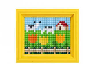 Pixelhobby, Pixel XL készlet, legelő (12012, 10x12 cm-es alaplap, XL színek, képkeret, 4-6 év)