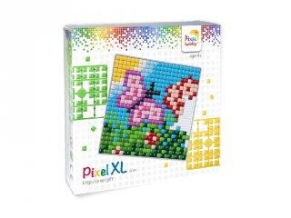 Pixelhobby, Pixel XL készlet, lepke (41012, 12x12 cm-es alaplap, XL színek, 4-6 év)