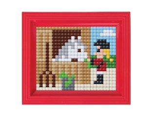 Pixelhobby, Pixel XL készlet, lovas (12076, 10x12 cm-es alaplap, XL színek, képkeret, 4-6 év)