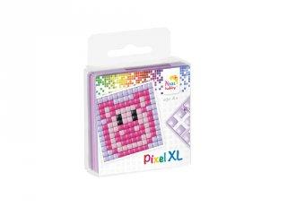 Pixelhobby, Pixel XL készlet, malac (27010, 1db 6x6 cm-es alaplap, 4 szín, 4-6 év)