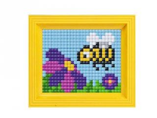 Pixelhobby, Pixel XL készlet, méhecske (12003, 10x12 cm-es alaplap, XL színek, képkeret, 4-6 év)