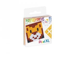 Pixelhobby, Pixel XL készlet, oroszlán (27006, 1db 6x6 cm-es alaplap, 4 szín, 4-6 év)