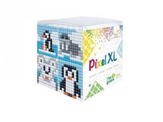 Pixelhobby, Pixel XL készlet, pingvin (24114, 4db 6x6 cm-es képhez, 4-6 év)