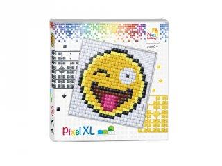 Pixelhobby, Pixel XL készlet, Smiley (41036, 12x12 cm-es alaplap, XL színek, 4-6 év)