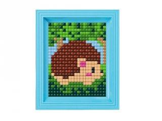 Pixelhobby, Pixel XL készlet, sündisznó (12065, 10x12 cm-es alaplap, XL színek, képkeret, 4-6 év)