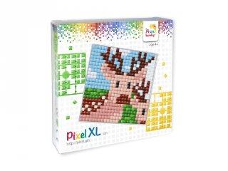 Pixelhobby, Pixel XL készlet, szarvas (41016, 12x12 cm-es alaplap, XL színek, 4-6 év)
