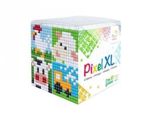 Pixelhobby, Pixel XL készlet, tanyasi állatok (24110, 4db 6x6 cm-es képhez, 4-6 év)