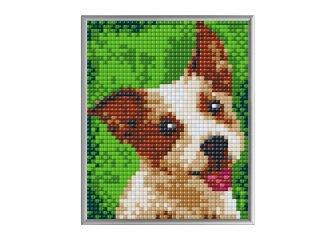 Pixelhobby, Pixel XL készlet, Terrier (28025, 4 db 10x12 cm-es alaplap+színek, 4-8 év)