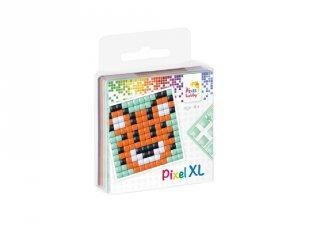 Pixelhobby, Pixel XL készlet, tigris (27004, 1db 6x6 cm-es alaplap, 4 szín, 4-6 év)