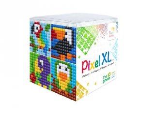 Pixelhobby, Pixel XL készlet, trópusi madarak (24102, 4db 6x6 cm-es képhez, 4-6 év)