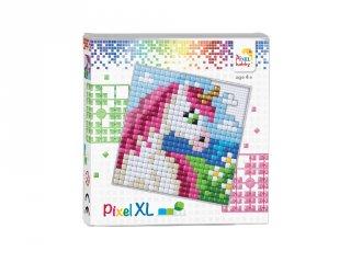 Pixelhobby, Pixel XL készlet, Unikornis (41010, 12x12 cm-es alaplap, XL színek, 4-6 év)