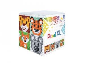 Pixelhobby, Pixel XL készlet, vadállatok (24107, 4db 6x6 cm-es képhez, 4-6 év)