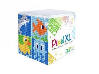 Pixelhobby, Pixel XL készlet, vízi állatok (24109, 4db 6x6 cm-es képhez, 4-6 év)