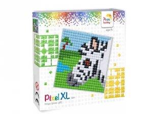 Pixelhobby, Pixel XL készlet, zebra (41032, 12x12 cm-es alaplap, XL színek, 4-6 év)