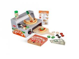 Pizzasütő készlet, Melissa&Doug 34 db-os fa szerepjáték (9465, 3-7 év)