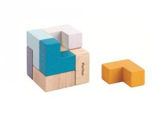 Plan Toys 3D puzzle kocka, fa logikai játék