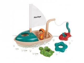 Plan Toys activity hajó, fa fürdőjáték
