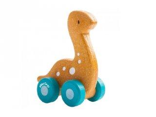 Plan Toys Diplo dínó autó, fa gurulós bébijáték