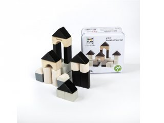 Plan Toys építőkocka szett, fa építőjáték