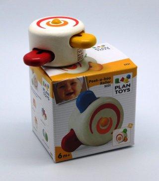 Plan Toys forgó kukucs, fa bébijáték