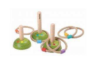 Plan Toys gyűrű dobálós játék, fa ügyességi játék