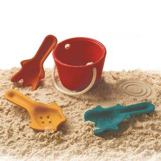Plan Toys homokozó szett, fa strandjáték