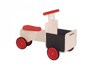 Plan Toys hordozós bicikli, fa bébijáték (18 hó-5 év)