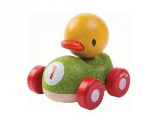 Plan Toys kacsás versenyautó, fa bébijáték