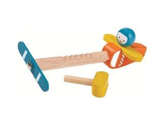Plan Toys légcsavaros repülő, fa gyerekjáték
