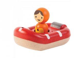 Plan Toys mentőcsónak, fa fürdőjáték
