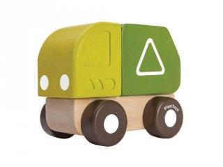 Plan Toys mini szemetes autó, fa bébijáték