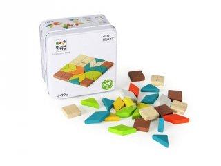 Plan Toys mozaik, fa kirakós építőjáték