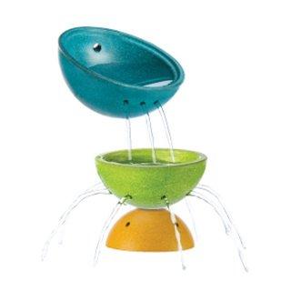 Plan Toys szökőkút tál készlet, fa fürdőjáték