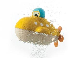 Plan Toys tengeralattjáró, fa fürdőjáték