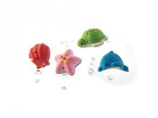 Plan Toys tengeri állatok készlet, fa fürdőjáték