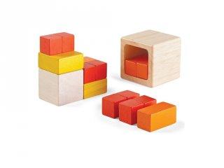 Plan Toys tört kockák, fa készségfejlesztő játék (3-7 év)