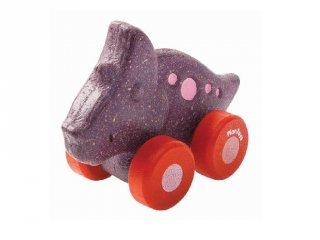Plan Toys Trio dínó autó, fa gurulós bébijáték