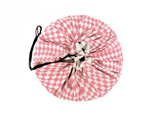 Play&Go játéktároló zsák, Rózsaszín rombusz (140 cm)