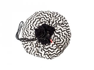 Play&Go játéktároló zsák, Zigzag fekete (140 cm)