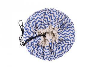 Play&Go játéktároló zsák, Zigzag kék (140 cm)