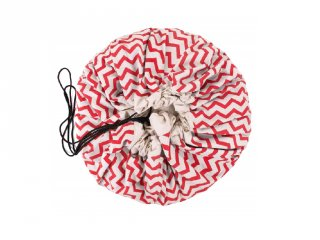 Play&Go játéktároló zsák, Zigzag piros (140 cm)