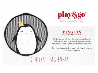 Play&Go soft játéktároló zsák, Pingvin (140 cm)