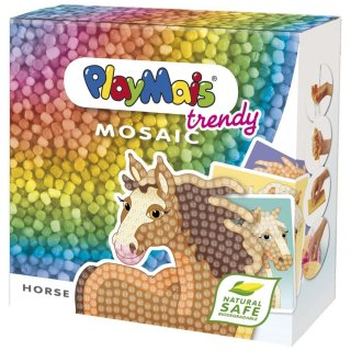 PlayMais trendy MOSAIC, Lovak (Playmais, Horse, kreatív összeépítős játék, 3-12 év)