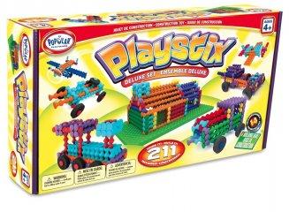 Playstix deluxe építőjáték, ötletkártyákkal (Popular, 211 db-os kreatív építőjáték, 3-99 év)